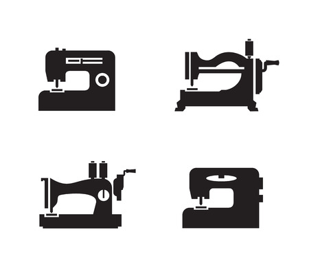 machine a coudre: Format machines � coudre ic�nes Vector
