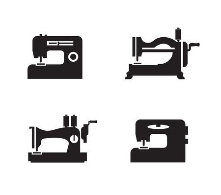 maquina de coser: Formato de los iconos de la máquina de coser Vector Vectores