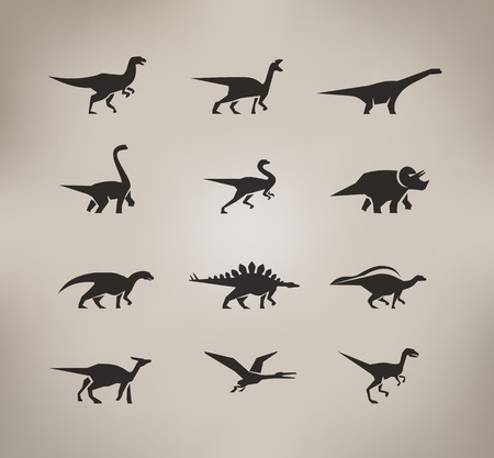 Dinosaurs  Vector format Illustration