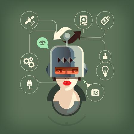 robot head: Scheme  Vector format