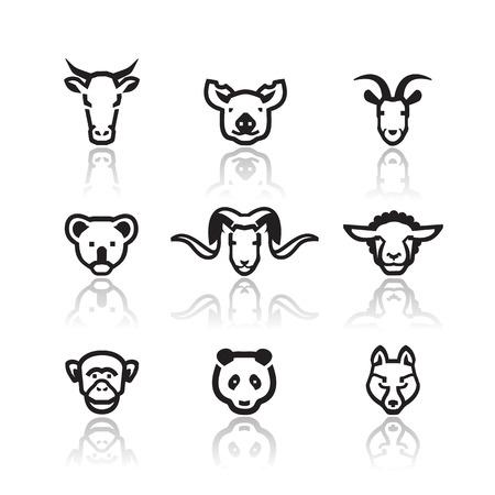 Dieren iconen Vector formaat Stock Illustratie