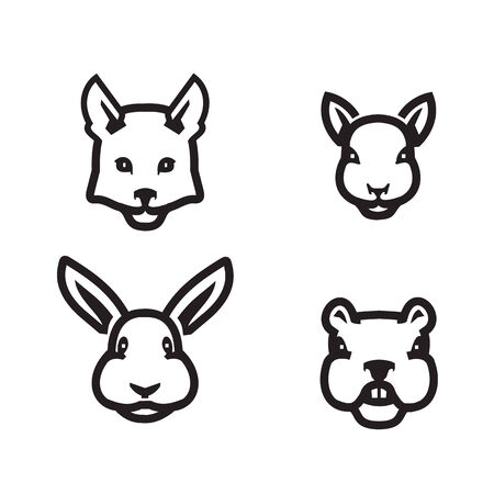 jackrabbit: Animals icons  Vector format