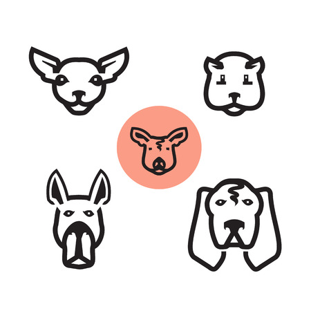 whelps: Animals icons  Vector format