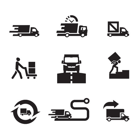 courier: Delivery icons  Vector format
