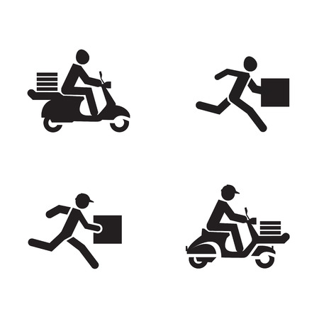 scooters: Delivery icons  Vector format