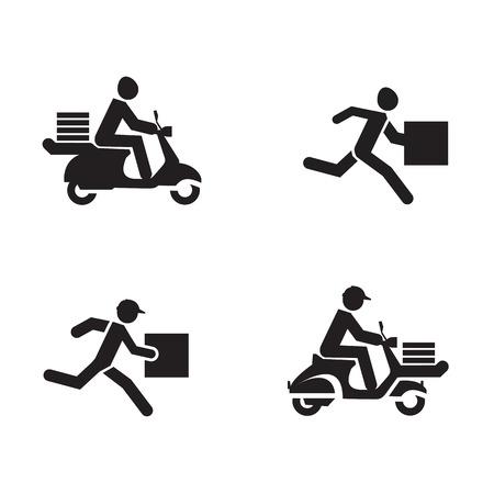 Formato de iconos de entrega Vector