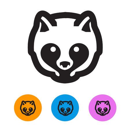 Raccoon  Vector format Vector