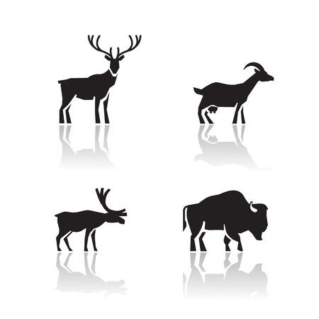 тундра: Животные иконы векторном формате Иллюстрация