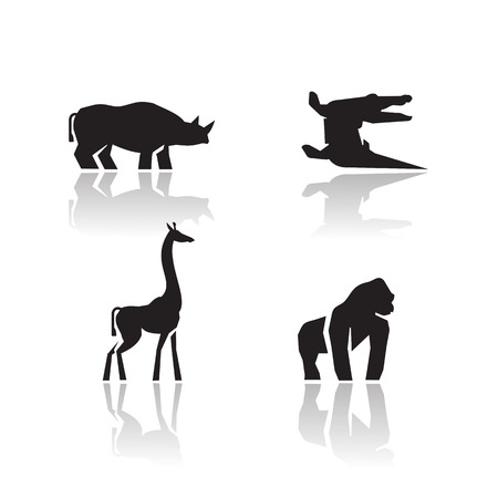 girafe: Animals icons  Vector format