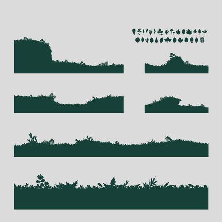 landscape gardener: Grass  Vector format