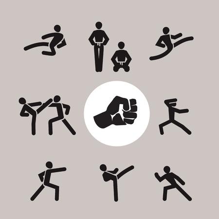Karate  Vector format Vector