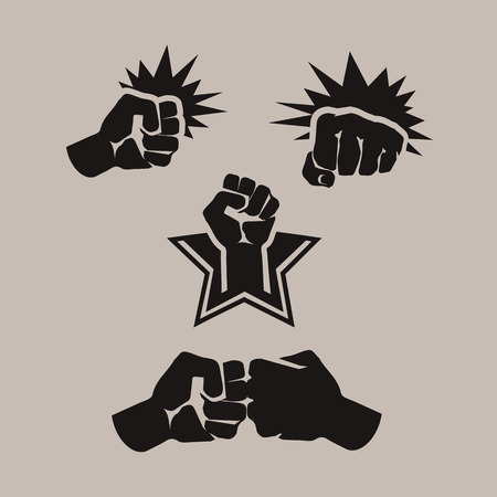 human rights: Formato vectorial Fist