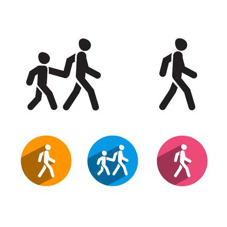 pedestrian walkway: People  Vector format Illustration