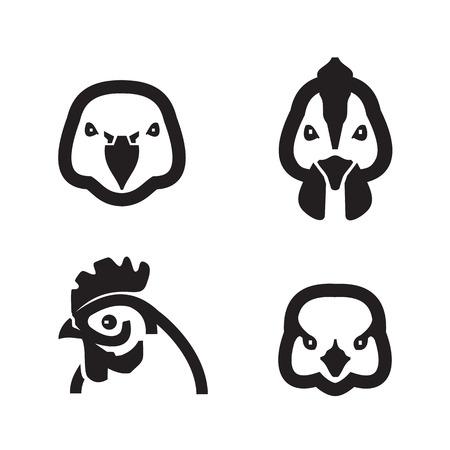 pollitos: Formato vectorial Birds Vectores