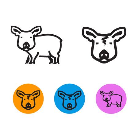 schmalz: Schwein Vektor-Format Illustration