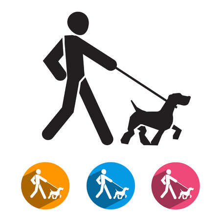 Man and dog  Vector format Vector