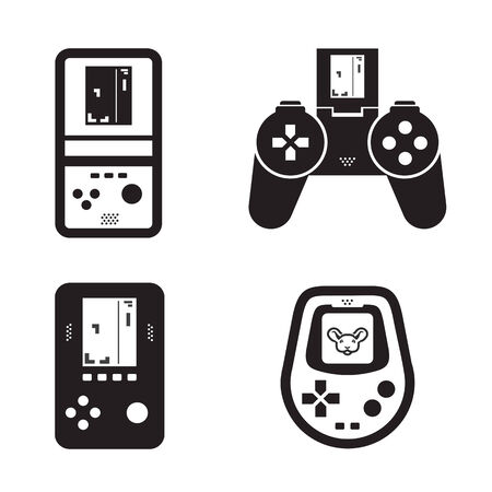 controller: Game icons  Vector format Illustration