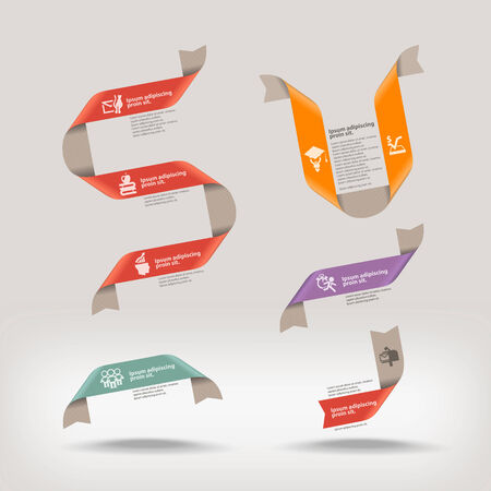 curved line: Ribbons  Vector format
