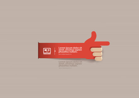 segment: Hand  Vector format Illustration