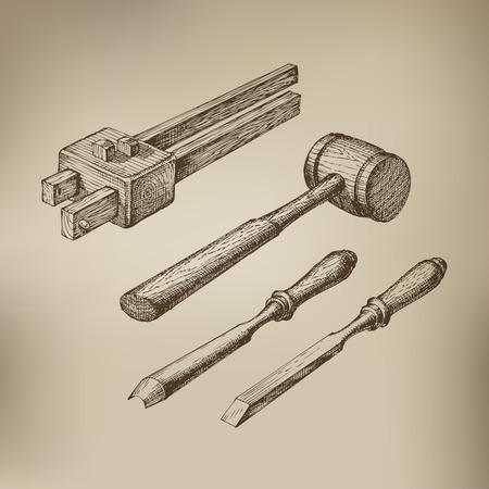 master: Tools  Vector format Illustration