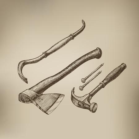 hammer head: Tools  Vector format Illustration