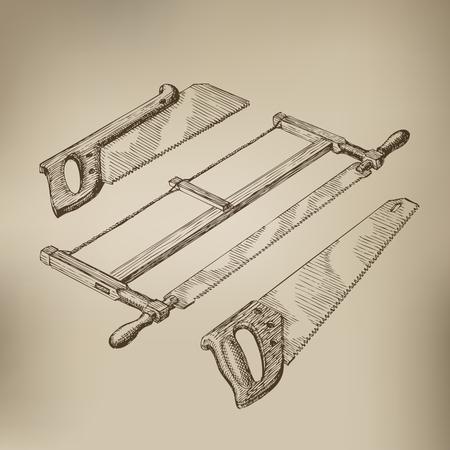crosscut: Tools  Vector format Illustration