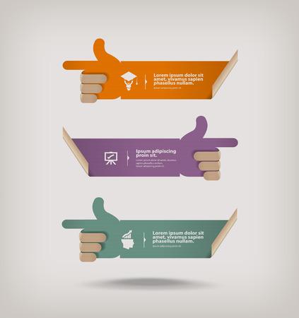 title hands: Index  Vector format Illustration