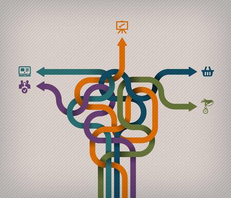 labyrinth: Choice  Vector format Illustration