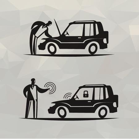 alarm system: Motorcar  Vector format