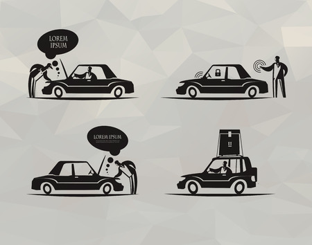 automobile mechanic: Transport  Vector format