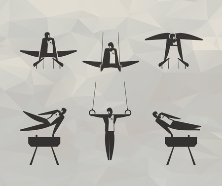 simulators: Sport icons  Vector format