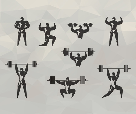 Gym icons  Vector format Vector