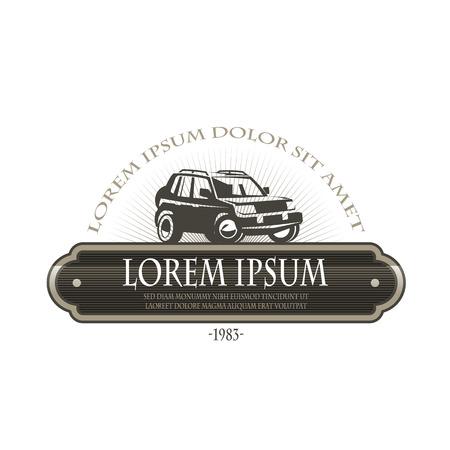 4wd: Car  Vector format Illustration