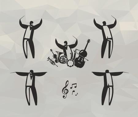 pictogrammes musique: le format des ic�nes de la musique Vector