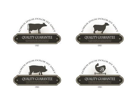 butcher shop: Farm icons  Vector format