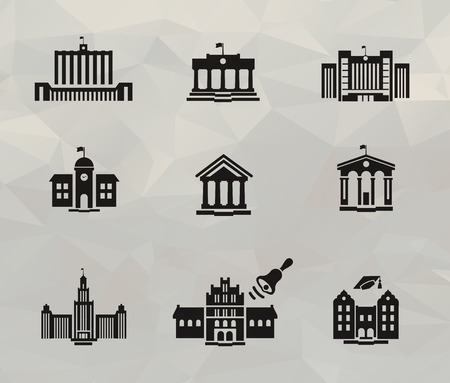 college building: Architecture icons  Vector format Illustration