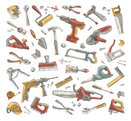 Tools set  Vector format Vector