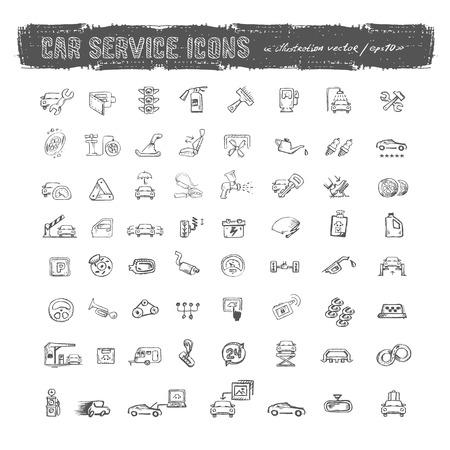 dienstverlening: Auto service pictogrammen Vector formaat
