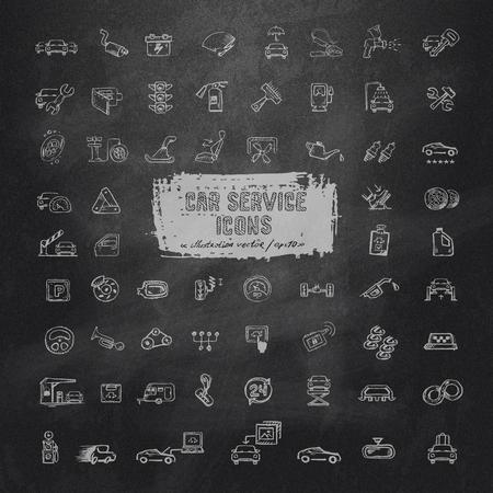 Car service icons  Vector format Vector