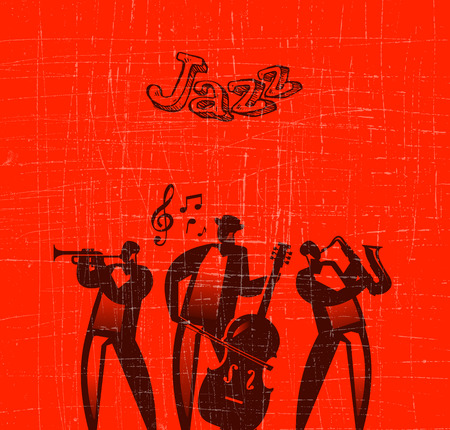 double bass: Jazz  Vector format Illustration