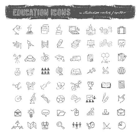 iconos educacion: Formato vectorial Iconos de la educaci�n