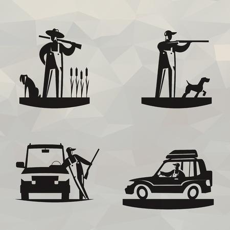 gun license: Hunting  Vector format