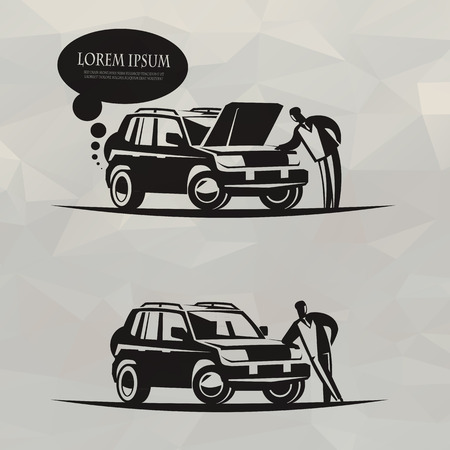 chauffeur: Car  Vector format Illustration