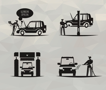car service: Car service   format Illustration