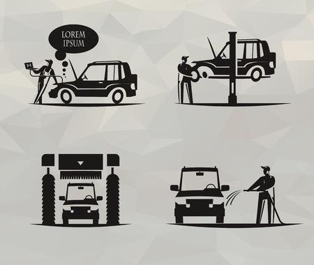 Car service   format Illustration