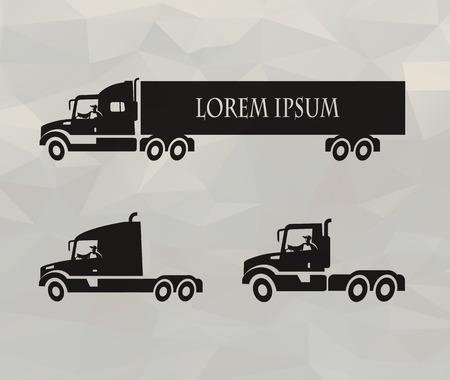 semi: Truck icons