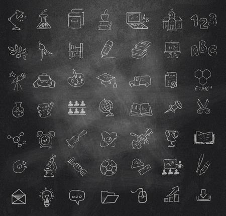 iconos educacion: Iconos de la educaci�n establecidos