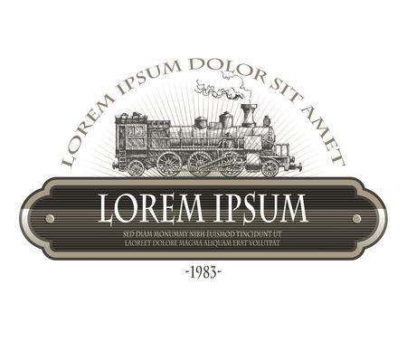 locomotora: Vintage tren de vapor