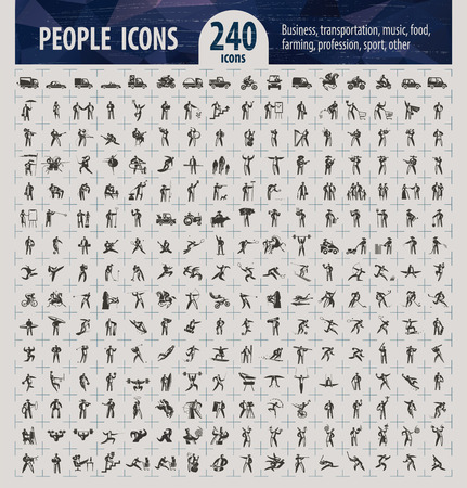People icons  Vector format  Vector