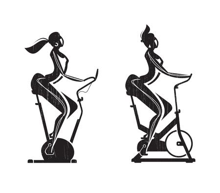 bike vector: Formato Gym Exercise Bike Vector